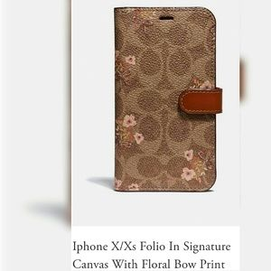 Authentic Coach IPhone X/XS Folio Case